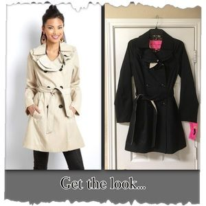 Betsey Johnson Black Double Breasted Coat/Jacket