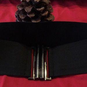Woman Black Elastic Belt