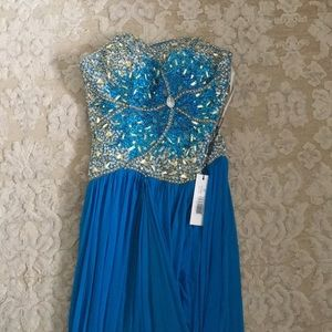 Terani prom p1506 turquoise dress