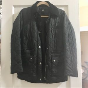 Barbour Style Quilted Ladies Jacket Dk Navy sz 2