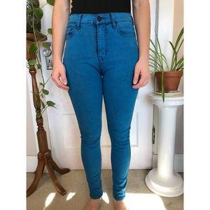 BDG High Waist Bright Blue Skinny Jeans
