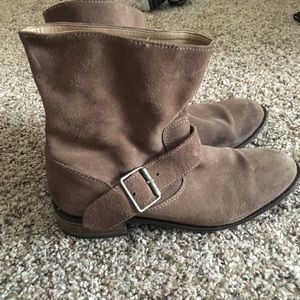 Zara TFC faux suede leather riding boots