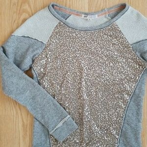 🌟NEW🌟 Boho Distressed Sequin Sweater