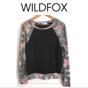 New List* Wildfox Black Rose Baggy Raglan
