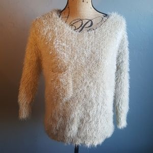 Lovely Girl Gold Fuzzy Sweater