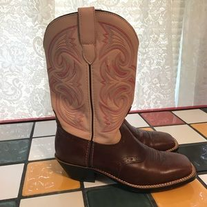 Road Wolf Rose Pink Cowboy Boots