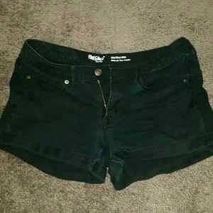 Size 8 Mid-Rise Black Jean Shorts
