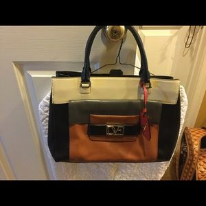 Diane von Furstenberg 100% cow leather Satchel