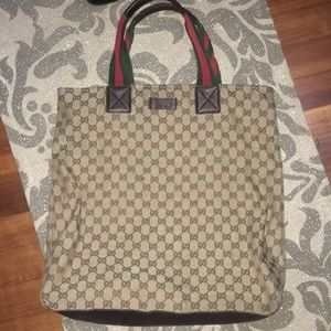 AUTHENTIC GUCCI LARGE LOGO TOTE