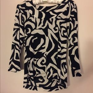 Chico's Black & White printed Top