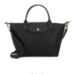 Longchamp Le Pliage Solid Tote Black