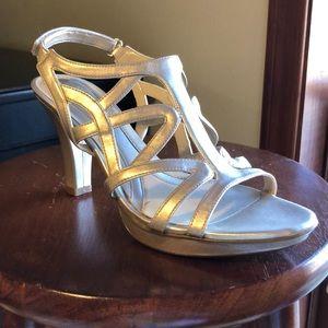 Naturalizer DANYA Strappy Metallic Heels Size 8