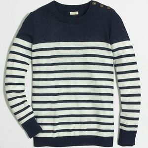 Shoulder-button Charley sweater