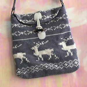 winter knit cross body bag tote cute sweater