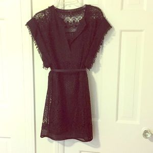 BCBG black lace overlay cocktail dress