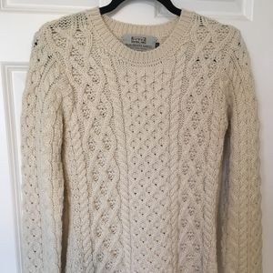 Aran 100% Merino Fisherman's Sweater