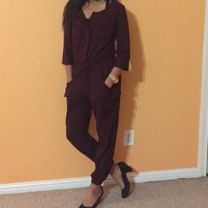 NY&CO jumpsuit romper joggers elbow Sleeves