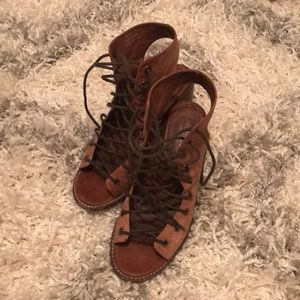 Free People/Jeffrey Campbell Minimal Lace up Heels