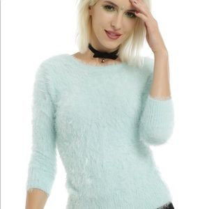 Hot Topic Mint Fuzzy Sweater