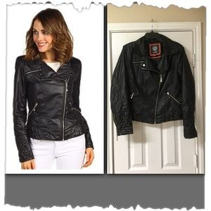 Vince Camuto Black Lightweight Motorcycle Jacket