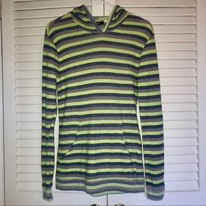Men's Striped Shirt with Hood