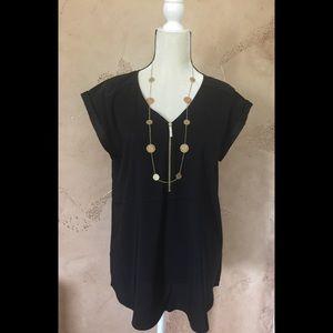 Silky Black Blouse