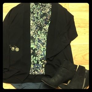 H&M sheer floral shirt