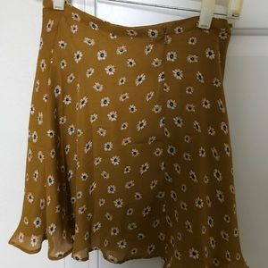 Cute yellow floral skirt