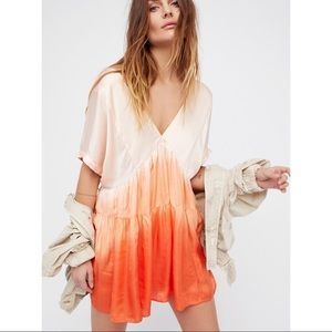 FREE PEOPLE peach (orange) ombré dress!