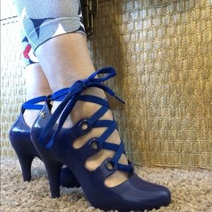 V. Westwood Anglomania electric blue Melissa heel