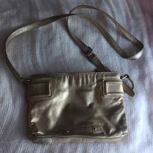 Cole Haan metallic leather crossbody