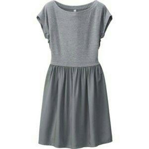 Uniqlo Jersey flared short sleeve dress
