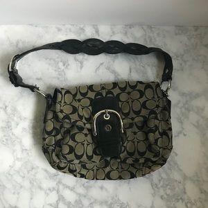 GUARANTEED AUTH Coach Grey/Black Bag
