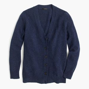 J Crew Classic VNeck Wool Cardigan in Donegal Blue