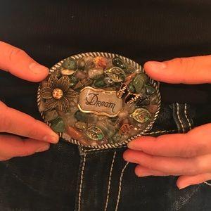 Beautiful handcrafted belt buckle.