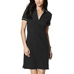 Adorable Preppy Tommy Hilfiger Black Polo Dress S
