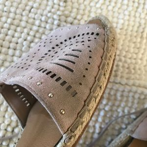 Susina Shoes - Susina dusty lilac perforated lace up espadrilles