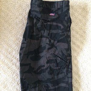 Dickies Black and Grey Camo cargo shorts 40