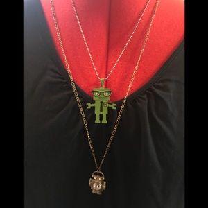 Robot Necklaces