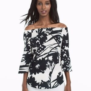 WHBM off shoulder top with bell sleeves 2