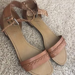 Marc Fisher Eiden Brown Leather Sandal