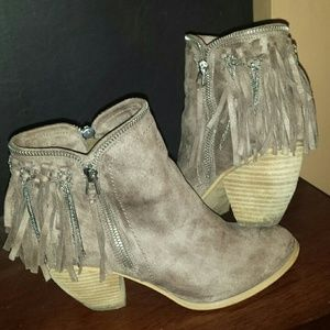 Not Rated Fringe Booties - size 7.5