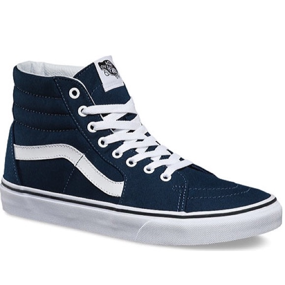 Like New Vans Off The Wall Navy Blue