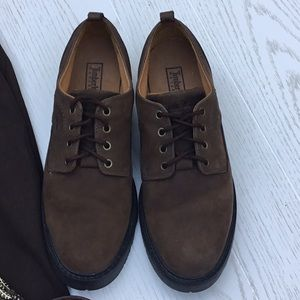 Timberland Brown Leather waterproof Oxford shoe.