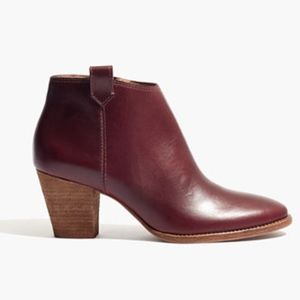 billie boot in dark cabernet // madewell ♥️