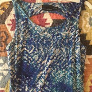 Cynthia Rowley Blue Flare Skater Dress