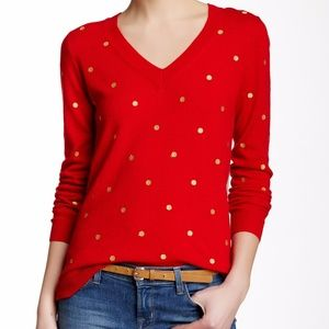 J. Crew Embroidered Dot Tunic Sweater - M