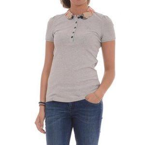 Burberry Grey polo shirt