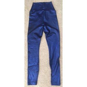 American apparel hologram blue high waist leggins