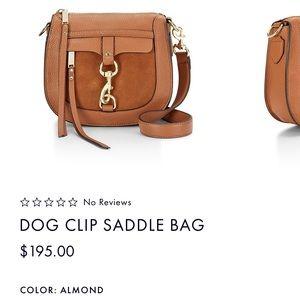 Rebecca Minkoff Dog Clip Saddle Bag - Almond
